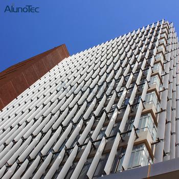 Aerofoil Solar Shading System Aluminium Sun Louver Facade