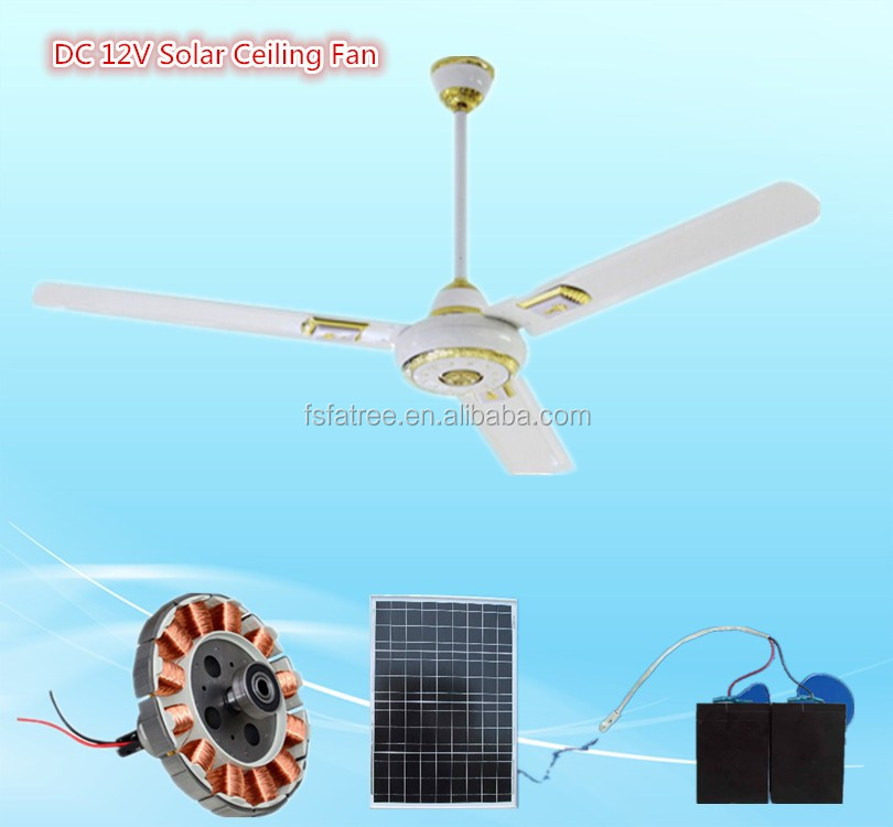 48 56 Inch 12v Dc Ceiling Fan Solar Fan With Remote