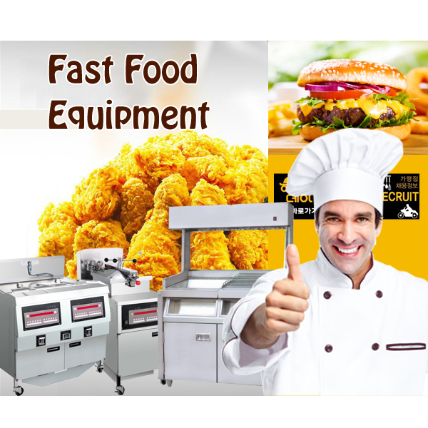 2018 All Series Burger Restaurant Equipment /KFC McDonald's Fast Food Restaurant Machine Kitchen Equipment /Counter Design