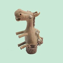 Cute HandCarved Clay Donkey Figurine