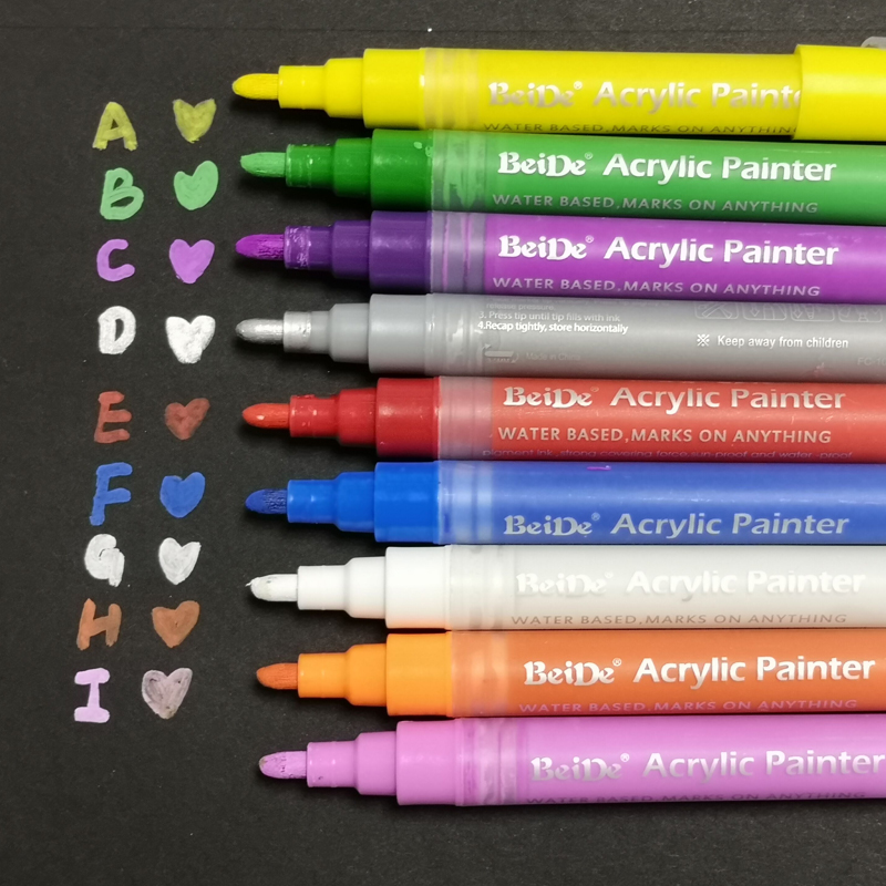 High quality private logo transparent water based ink Acrylic Paint marker pens