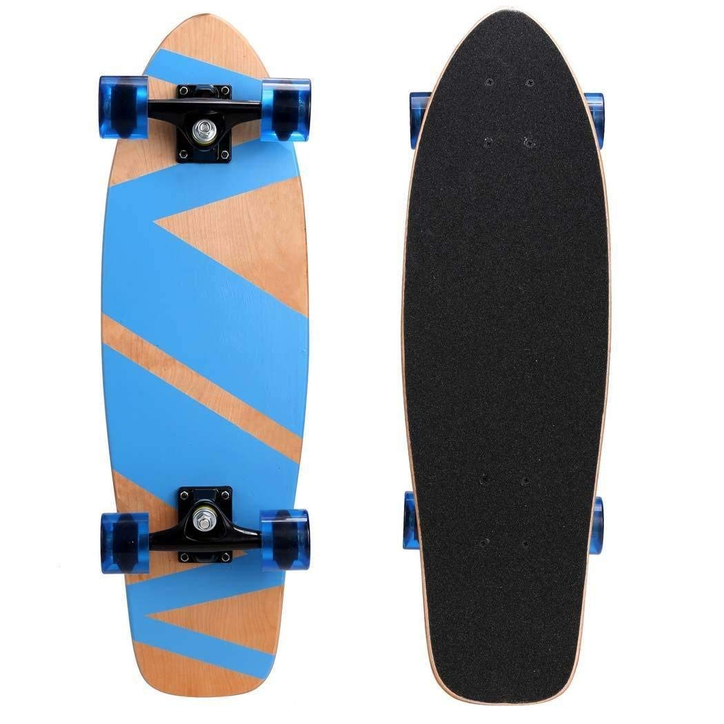 ec7e6614dd Get Quotations · KELAND (US Stock) Cruiser Skateboard 27inch Complete  Longboard Maple Wooden Deck Skate Board Longboard