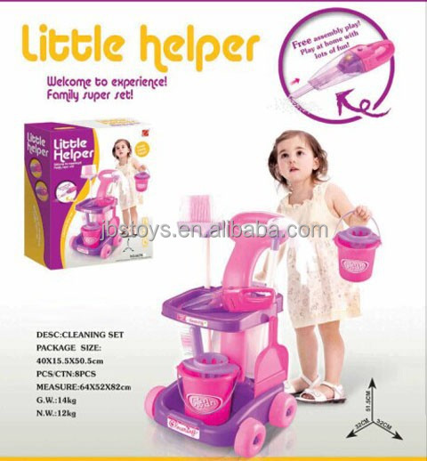 Kids play house toys Multifunctional Little Helper B/O Cleaning Tool with light .kid toys .TB14110019