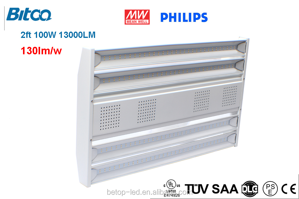 UL LED Linear High bay light 50w to 300w 130LM/W IP65 waterproof led linear light DLC listed