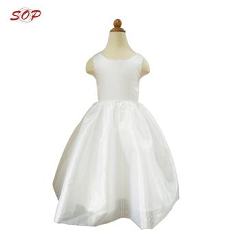 d8c133fd8bc2 Bebé Niñas Fiesta Vestido De Tela De Raso Blanco Niña Vestidos De Fiesta  Para Niñas De 10 A 15 Años. - Buy Vestidos De Fiesta Para Niñas De 10 A 15  ...