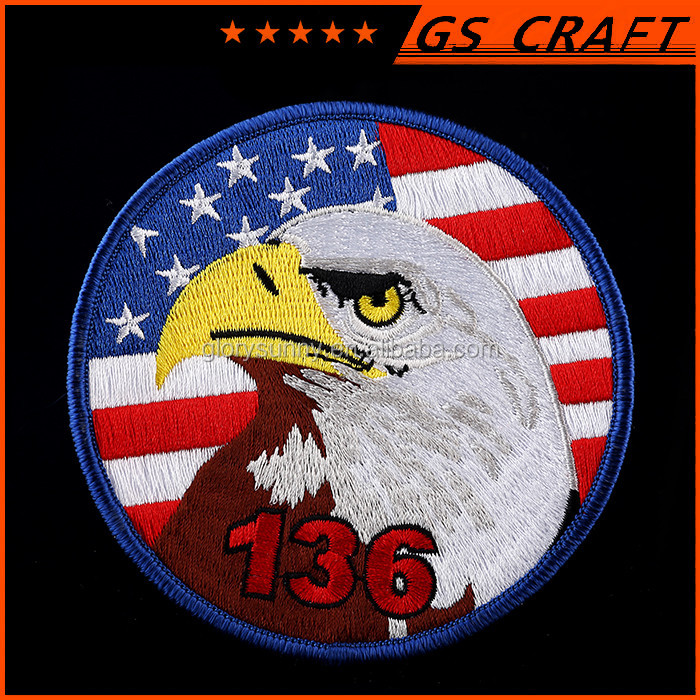 Custom Embroidered Patch,3D Embroidery Patch With Eagle Logo