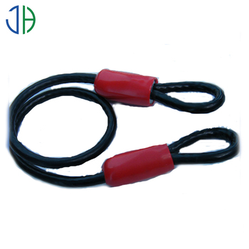 Pvc Coated Galvanized Steel Wire Rope Sling With Plastic Thimble ...