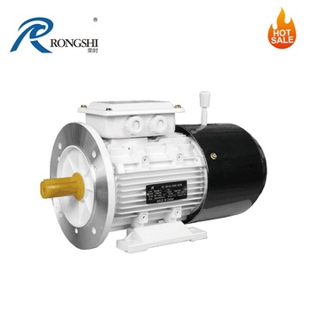 Rapid Stop Asynchronous Three-Phase Electric Motor With Brake