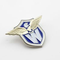 factory direct sale personalized custom metal pilot wings lapel pin cheap security sheriff star clothing badge metal