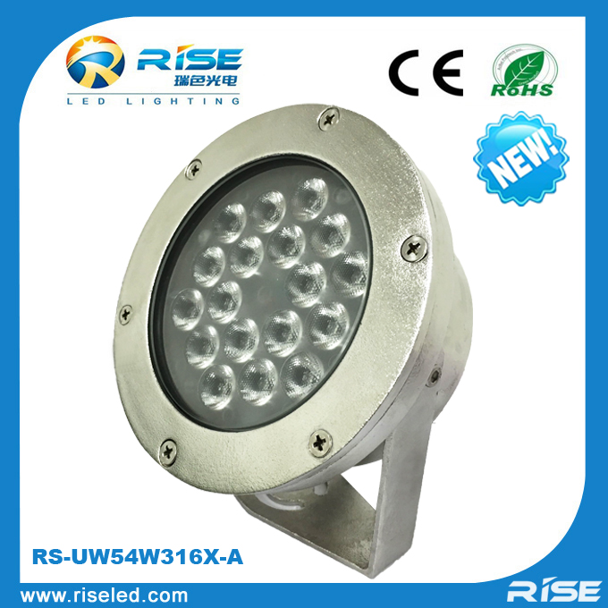 Surface mounted led underwater pool light with 316SS