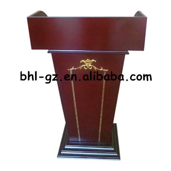 Exceptional Guangzhou Hotel Wholesale Supply Hotel Furniture Supply Wooden Rostrum Stage  Podium Designs Modern Church Podium T342