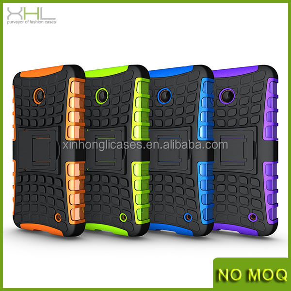 Hybrid rugged tpu&pc mobile phone case with stand for Nokia lumia 630 made in china