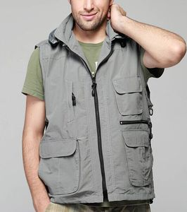 China Factory Manufacture for vest jackets for Men Fishing outdoor sports Leisure Vest with Multi Pockets