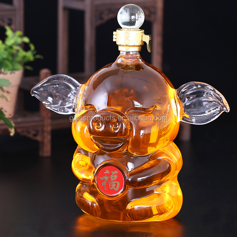 pig-shaped-glass-bottle