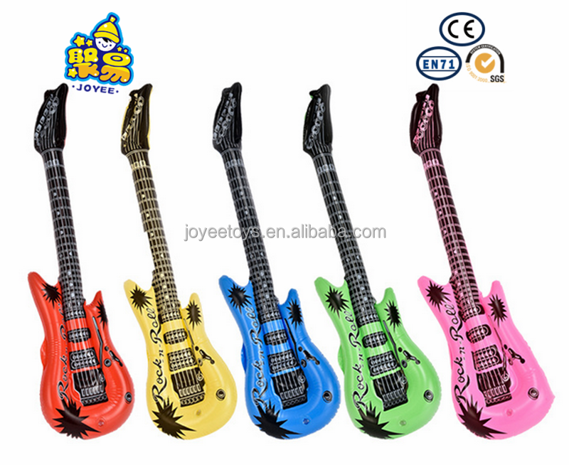 Promotional inflatable beautiful design giant pretty inflatable guitar <strong>toy</strong>