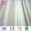 Beige diamond hole plain mesh fabric for athletic mesh