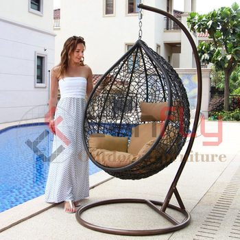 08bfc15d4 Nest Shape Rattan Hanging Chair Swing Wicker Garden Hammock ...