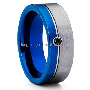 8mm Inlay Stone Wedding Rings Philippines Tungsten Ring For Men