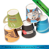 Custom disposable coffee milk tea drinking paper cup with handle