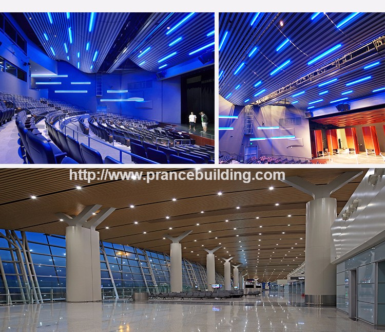 Aluminum suspended perforated aluminium ceiling tiles