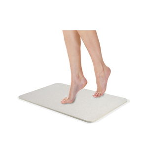 Thin Non Slip Hotel Waterproof Custom Size Diatomite Bath Mat