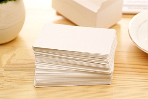 Cheap blank clear business card find blank clear business card fecedy 100pcs blank kraft paper business cards word card message card diy gift card white reheart Gallery