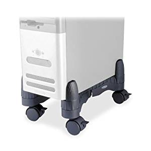 "Wholesale CASE of 10 - Kantek Adjustable CPU Stand-CPU Stand, Adjustable, 4-3/4""x16""x7"", Supports 60 Lb., Black"