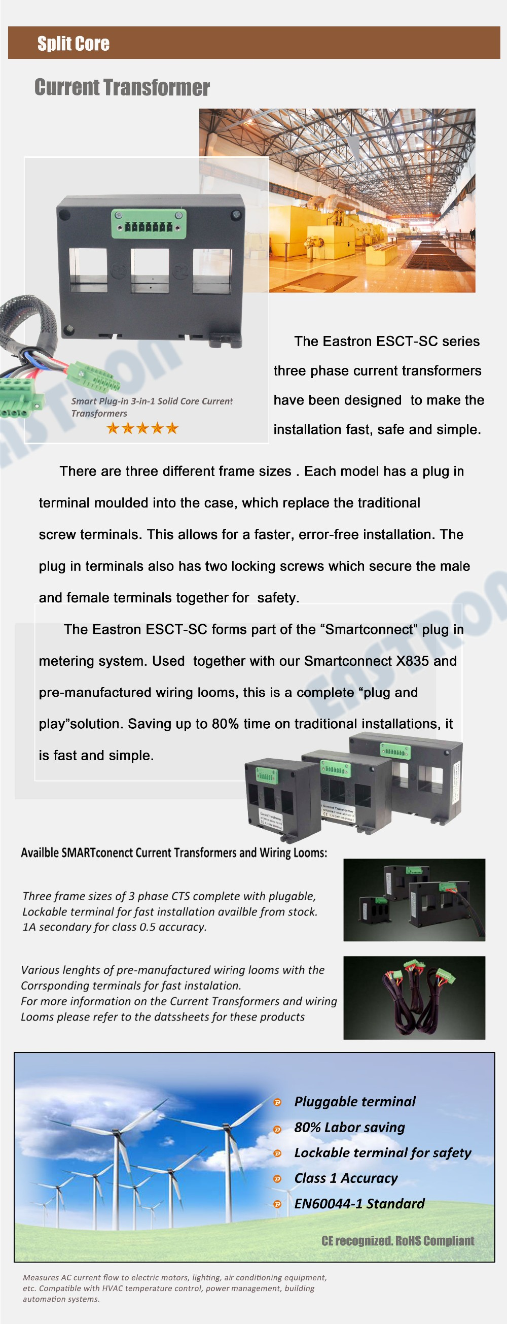 Esct Sc325 Series 3 In 1 Phase Current Transformerpluggable Ctdin Wiring Transformers Transformer Pluggable Ct