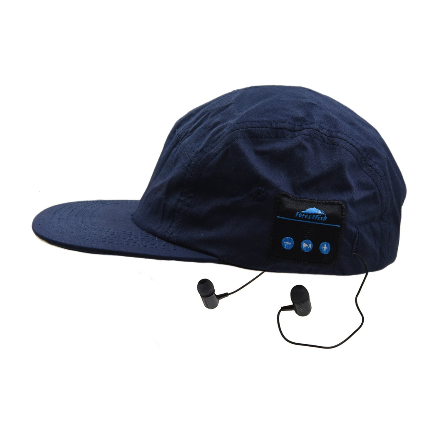 Forestfish Wireless Bluetooth Baseball Cap Sun Hat Smart Wireless Hands-Free Bluetooth Headset Sports Cap Music Speaker Mic Adjustable Velcro Baseball Cap for Men Women