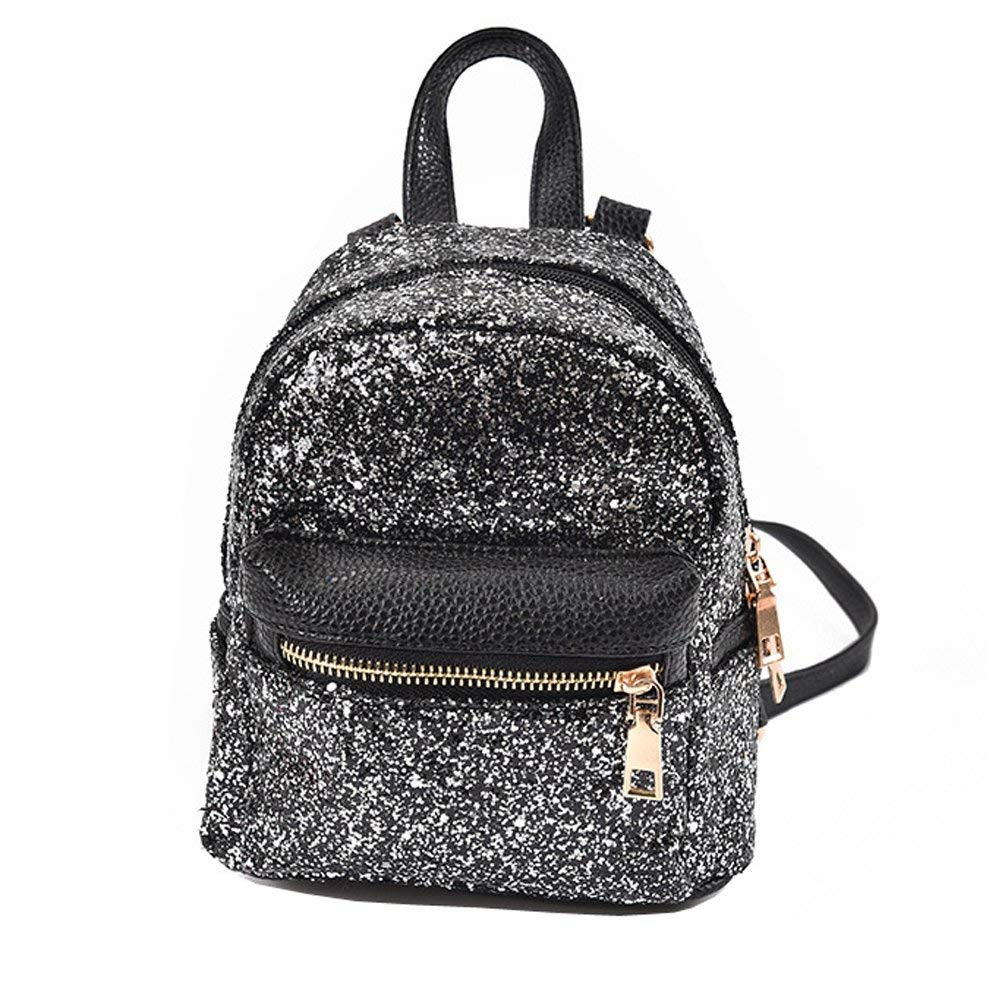 ade6f200aa Get Quotations · Girls Cute Sequin Mini Backpack Leather Purse Women Small  Leather Backpack Cross Body Bag