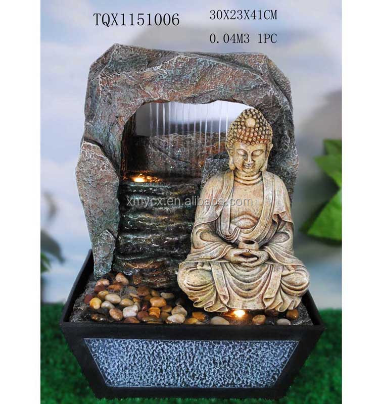 Superieur Home Decor Items Resin Baby Buddha Water Fountain With 3 Tiers