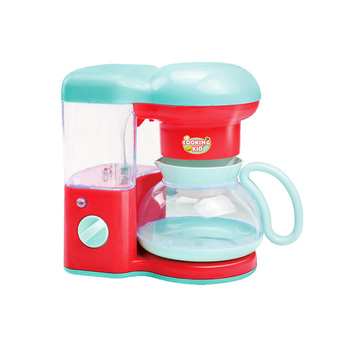Kids pretend play kitchen set toy b/o coffee maker with light