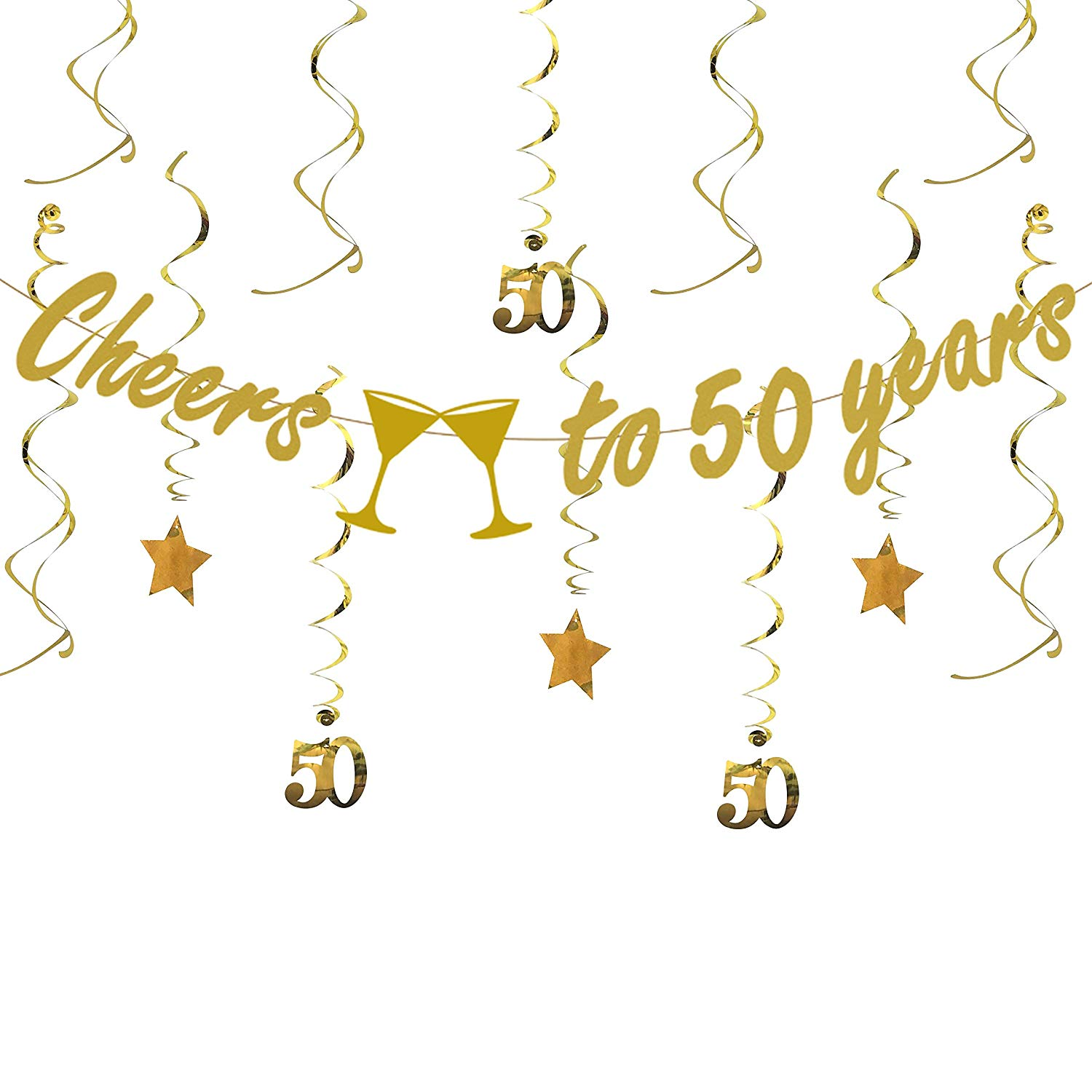 Get Quotations Tuoyi Gold 50th BIRTHDAY PARTY DECORATIONS KIT