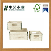 China wooden factory paulownia FSC white wash distressed gift wooden crates