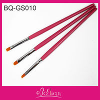 BQAN 3PCS Red Wood Handle Oil Paint and Acrylic Paint Brush Set