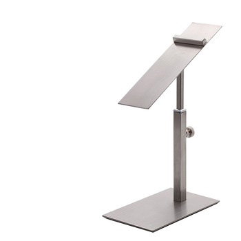 Noble Silver Hot Sale Fashion <strong>Retail</strong> Metal Adjustable Portable Shoe Display Stands For Shops