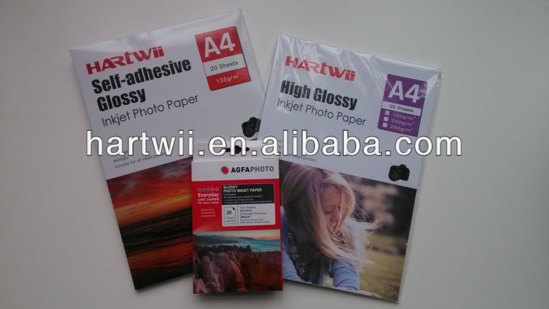 Hartwii factory matte/glossy/satin/luster inkjet photo paper