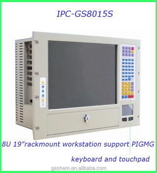 "Made in China 8U chassis rackmount with 15"" touch screen and keyboard"