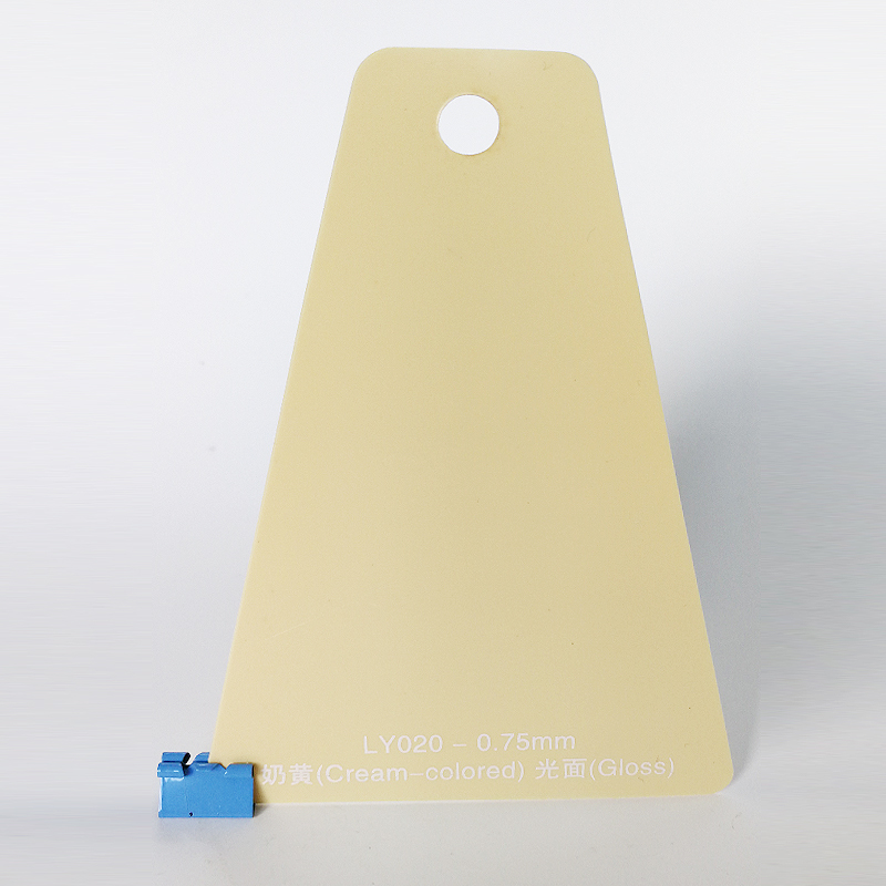 0.75mm Color Crema PVC Gloss Sonore per Scatola