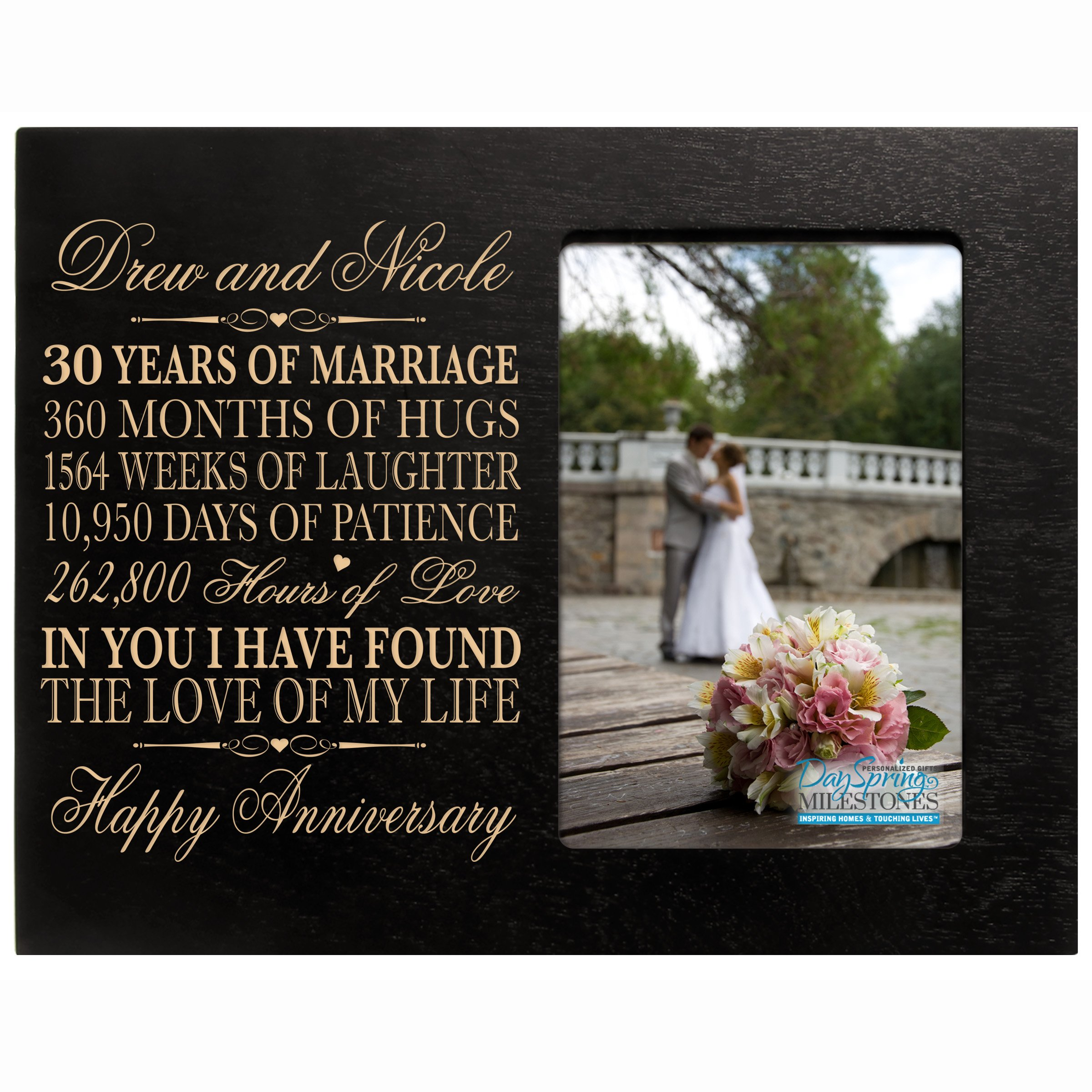 Buy Personalized 30th Year Wedding Anniversary Picture Frame Gift