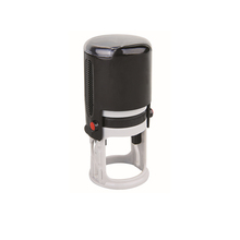 shiny plastic self inking stamp/round self-inking stamp