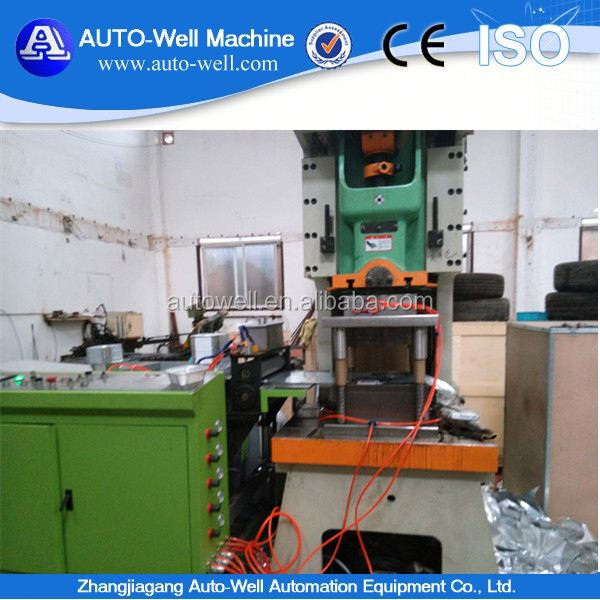 bbq aluminum foil cake cup production line with high speed