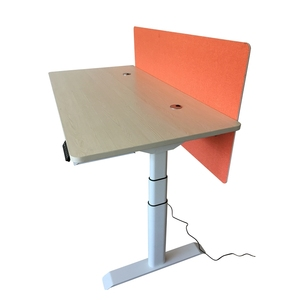 Wholesale metal office standing up desk bases single motor height adjustable mat AOKE AK2RT-ZF3 manual handle and table