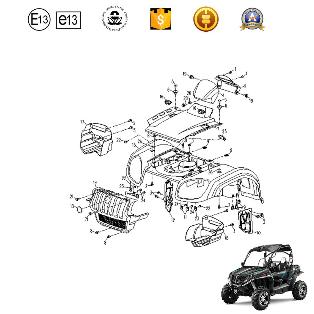 China Atv Plastic Body Manufacturers And Kazuma Parts Center Atvs Chinese Wiring Diagrams Suppliers On