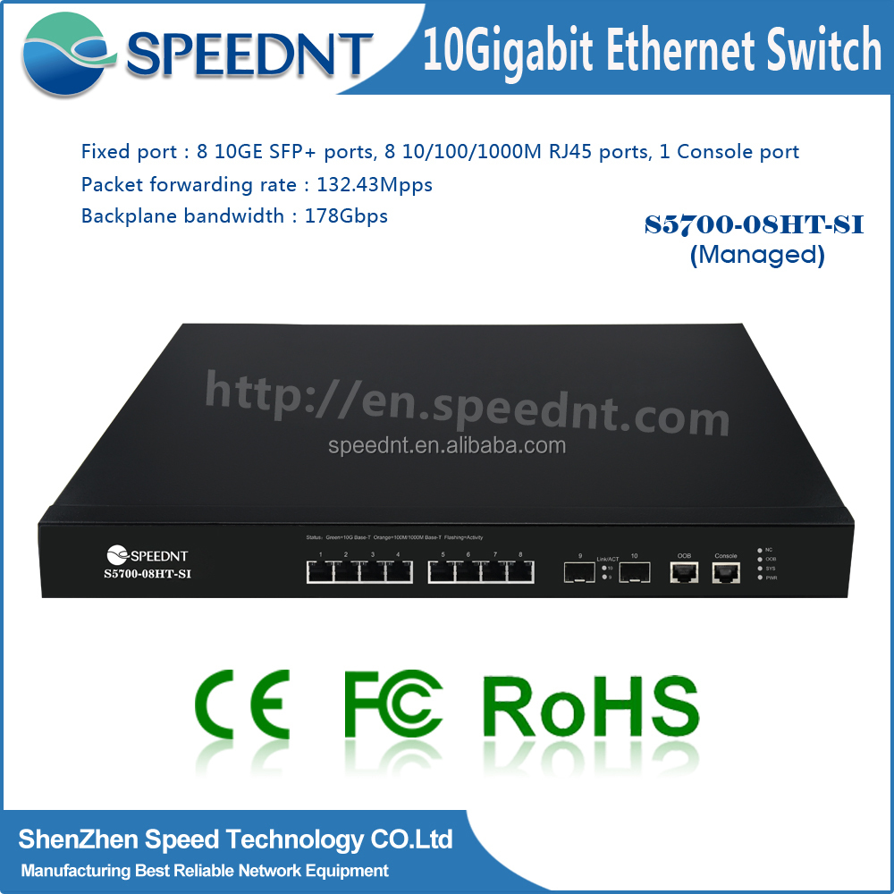 Best price switch network Layer3 with vlan/IGMP support 10 gigabit ethernet switch 8 port