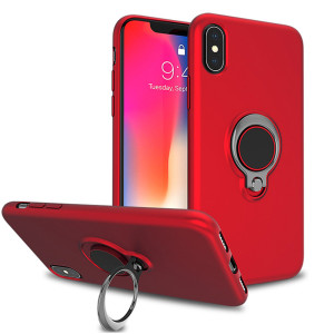 New arrival TPU metal hidden ring holder magnet shockproof mobile phone case back cover for iphone XS MAX