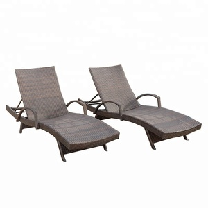 Model wicker armed chaise lounge chair cheap rattan chairs used garden patio and poolside