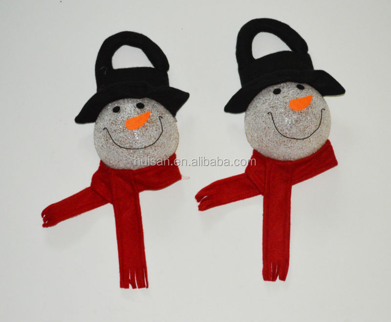Snowman festival hanging drop or party decoration/LED EVA Snowman flashlight