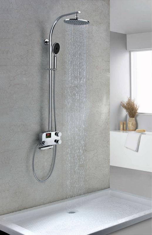 Tdrs08 أحدث الحديثة الجدار الخيالة ثرموستاتي حمام حنفيات خلاط الدش مرحاض الحمام والحنفيات معرف
