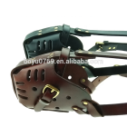 Genuine Leather Belgian Malinois anti bite dog leather muzzles